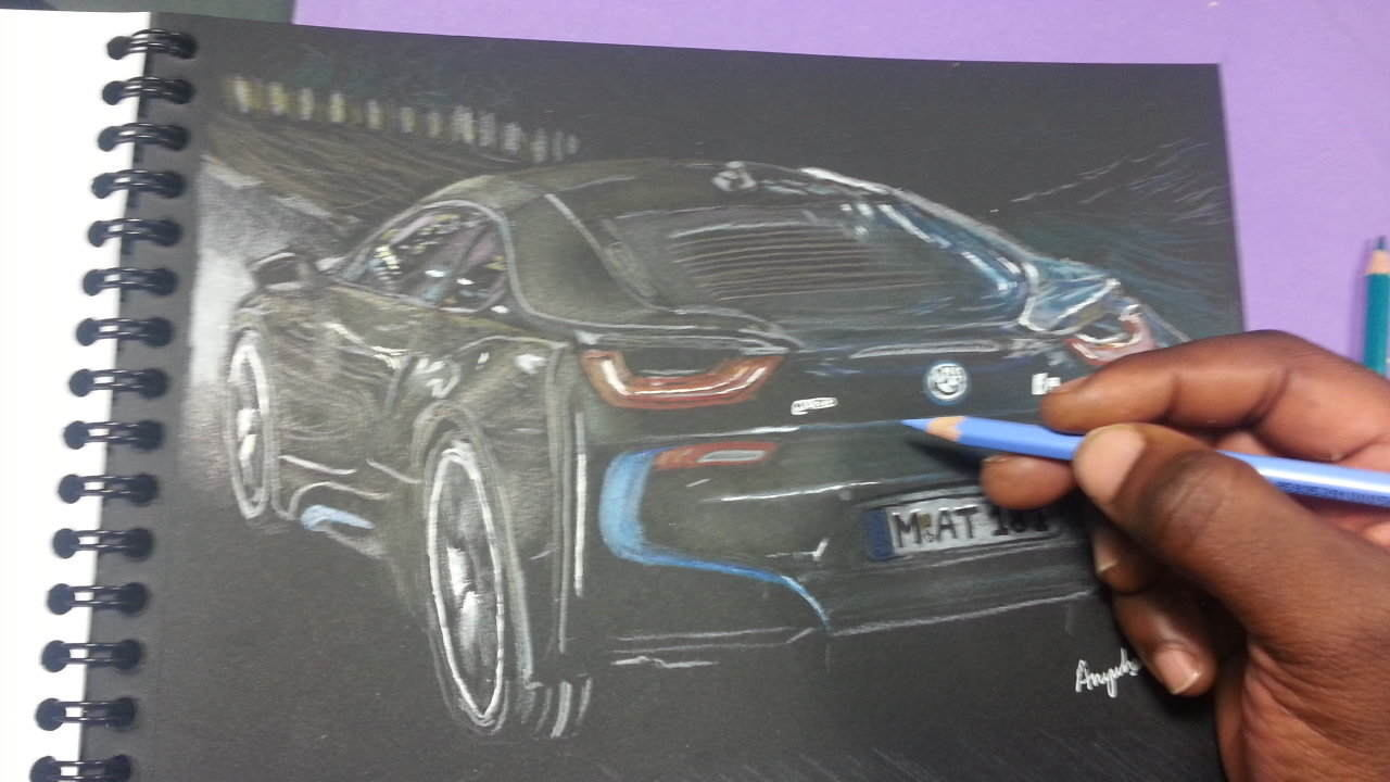 Drawing The 2014 Bmw I8 Anywhere S Art