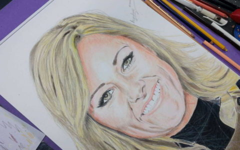 Drawing Helene Fischer