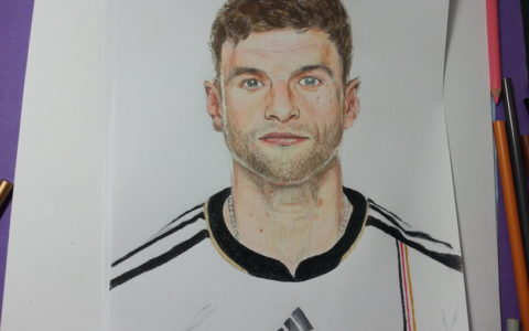Drawing Thomas Mueller