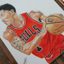 Drawing Derrick Rose – Chicago Bulls