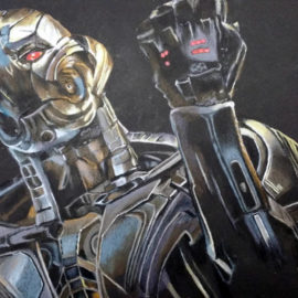 Drawing Ultron from Avengers: Age of Ultron movie
