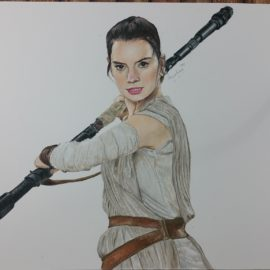 Drawing Rey from Star Wars: Force Awakens